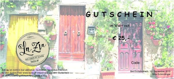 GUTSCHEIN € 25,-