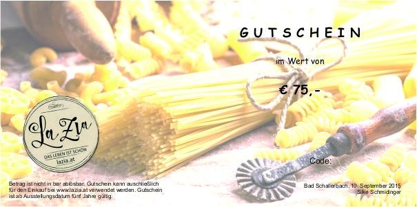 GUTSCHEIN € 75,-