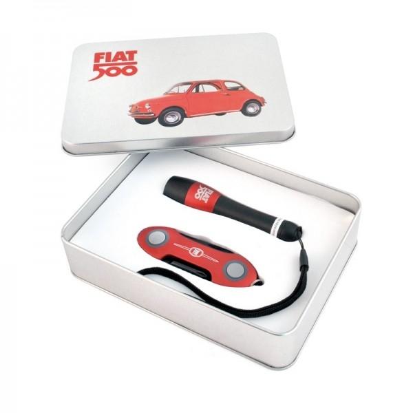 coltellino e torcia set Fiat500