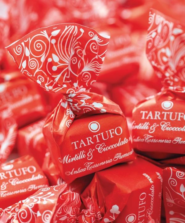 tartufo mirtilli e cioccolato rosa 200g